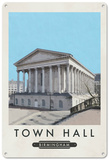 Birmingham Town Hall Tin Sign