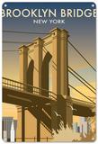 Pont de Brooklyn, New York Plaque en métal