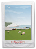 The Seven Sisters, East Sussex Tea Towel Novelty