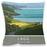 Lagg, Isle of Jura Cushion Throw Pillow