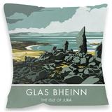 Glas Bheinin, Isle of Jura Cushion Throw Pillow