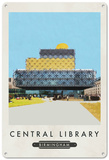 Birmingham Library Tin Sign