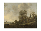 View of a Village on a River Prints by Jan Van Goyen