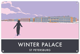 Winter Palace, St. Petersburg Tin Sign