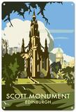 Scott Monument, Edinburgh, Scotland Blikskilt