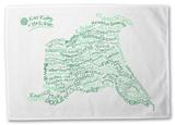 East Yorkshire Typography Tea Towel Novelty