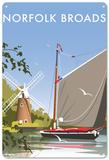 Norfolk Broads Tin Sign