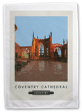 Coventry Cathedral Tea Towel Novelty