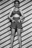 Barbara Rush Pose in Black and White Portrait Photo by  Movie Star News