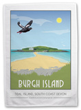 Burgh Island, Devon Tea Towel Novelty