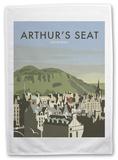 Arthur's Seat, Edinburgh, Scotland. Tea Towel Novelty