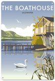 Boathouse, Ullswater, Lake District Tin Sign