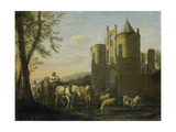 Main Gate to Egmond Castle Prints by Gerrit Adriaensz Berckheyde