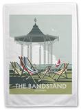 The Bandstand, Southsea, Portsmouth Tea Towel Originalt