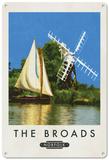 The Broads, Norfolk Plaque en métal