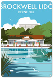 Brockwell Lido, Herne Hill, London Tin Sign