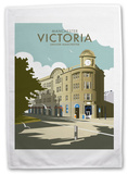 Victoria Station, Manchester Tea Towel Novelty
