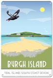 Burgh Island, Devon Plaque en métal