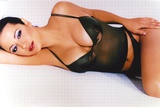 Catherine Bell posed in Black Lingerie Photo by  Movie Star News