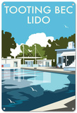Tooting Bec Lido, London Plaque en métal