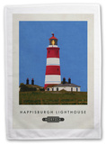 Happisburgh Lighthouse, Norfolk Tea Towel Novelty