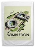 Wimbledon 'All England Tennis Club' Tea Towel Novelty