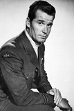 James Garner Posed in Black Suit With Arm's Cross Photo by  Movie Star News