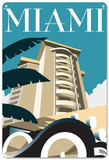 Miami, USA Tin Sign