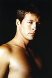 Jack Wagner Portrait in Topless with Black Background Photo by  Movie Star News