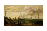 Ships Along the Shore Prints by Adam Willaerts