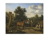 Hunting Party Kunstdrucke von Adriaen van de Velde