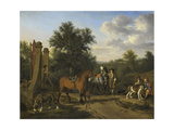Hunting Party Prints by Adriaen van de Velde