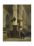 Protestant Church Interior Art by Johannes Bosboom