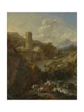 Italian Landscape Poster by Nicolaes Pietersz. Berchem