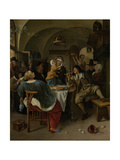 Family Scene Poster by Jan Havicksz Steen