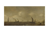 Seascape on the Beach of Scheveningen Prints by Willem van Diest