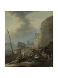 Italian Harbor Prints by Johannes Lingelbach