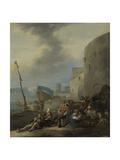 Italian Harbor Prints by Johannes Lingelbach