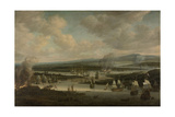 Burning of the English Fleet at Chatham Print by Willem Schellinks