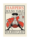 Harper's Round Table, Fourth of July Posters af Maxfield Parrish