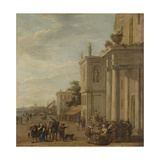 Italian Marketplace Print by Jacob van der Ulft