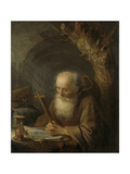 A Hermit Print by Gerard Dou