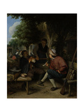 Travellers at Rest Print by Adriaen Van Ostade