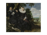 Portrait of a Couple Print by Frans Hals