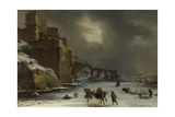City Walls in Winter Print by Willem Schellinks