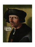 Portrait of Jacob Cornelisz Van Oostsanen Print by Jacob Cornelisz van Oostsanen