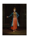Woman from the Bulgarian Coast Giclée-Premiumdruck von Jean Baptiste Vanmour