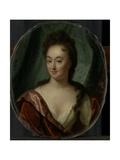 Miss Van Gool, Lady Companion of Clara Van Citters Prints by Godfried Schalcken