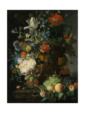 Still Life with Flowers and Fruit Prints by Jan van Huysum