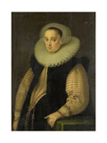 Portrait of Hortensia Del Prado (Died), Wife of Jean Fourmenois Print by Gortzius Geldorp